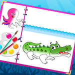 Sea Creatures Carte de colorat joc