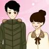 Shoujo Manga Valentin pár öltöztetős játék