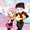 Skating Cute Couple Dress Up game