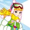 Chica de moda de esquí juego