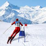 Simulatore di sci di slalom gioco