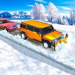 Chasse-neige Jeep Simulator jeu