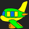 Special plane coloring game