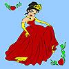 Пролет бала принцеса оцветяване игра