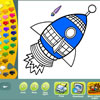 Space coloring pages game