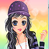 Sportive girl dress up game