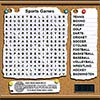 Sports Wordsearch game