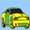 Spectacular fast car coloring game