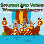 Spartan en Viking Warriors Geheugen spel