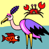 Pesca de cigüeña juego
