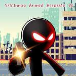 Stickman fegyveres assassin 3D játék