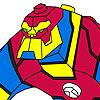 Super eroe da colorare gioco