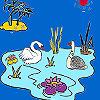 Kuğu Gölü boyama oyunu