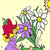 Sweet fairy and blossoms coloring game