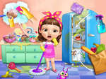 Sweet Baby Girl Cleanup Messy House game