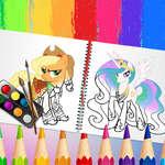 Сладка книга за оцветяване пони игра