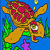 Tired water turtle coloring game