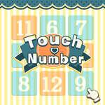 Número táctil juego