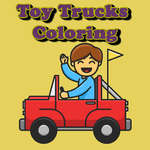 Toy Trucks Coloring game