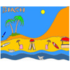 Tropisch strand Coloring spel
