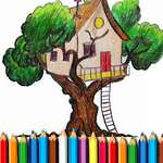 Tree House Coloring Book game