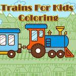 Vonatok gyerekeknek színezés játék