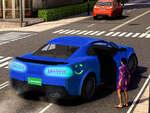 Chauffeur de taxi Uber 3D jeu