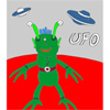 UFO - Martian Coloring game