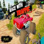 Ultimate MonterTruck Race With Traffic 3D juego