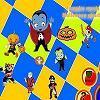 vámpír megfelel a halloween ghosts játék