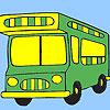 Urlaub Bus Färbung Spiel