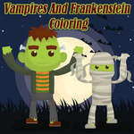 Vampires And Frankenstein Coloring game