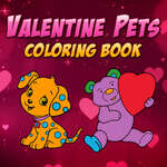 Valentine Pets Coloring Book game