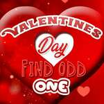 Saint-Valentin Trouver Odd One Out jeu