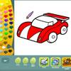 Colorear vehículos juego