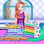 Vincy Cooking Rainbow Birthday Cake game