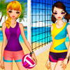 Filles de volley-ball jeu