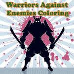 Warriors contra los enemigos para colorear juego