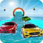 Vízi csúszda autó stunt racing játék 3D