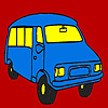 Weird minibus coloring game