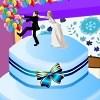 Esküvői torta dekoráció fél játék