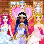 Peluquería de bodas para princesas juego