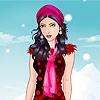 Téli divat ruha játék