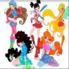 Winx Club színezés játék