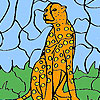 Wild leopard coloring game