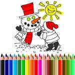 Winter Time Coloring game