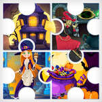 Witchs House Halloween Puzzles game