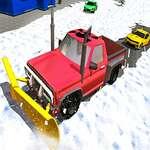 Winter Schneepflug Jeep Fahren Spiel