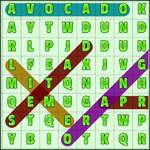 Word-Suche Früchte Spiel