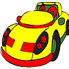 Yellow rotund car coloring game